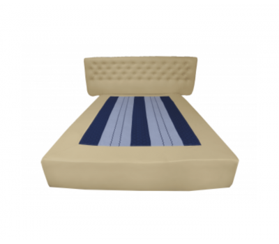 Bed base with buttoned head
