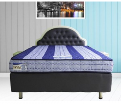 Bed base with lacquered velvet head
